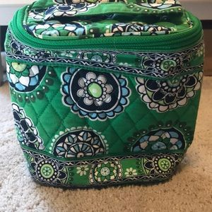 Vera Bradley make up bag Cupcakes Green